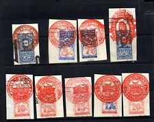 9 AUSTRALIAN Stamps QUEENSLAND STAMP DUTY from Edward VII (early 1900's)