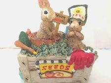 "Bunny Basket Figurine ""Classic Treasures"": Music Box, New.  Free Shipping"