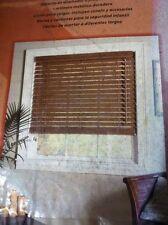 """New BASIC BLINDZ 2"""" real bamboo plantation blinds slats SPICE 23x64"""