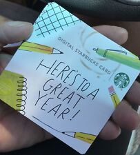 Back to School, Here's to a Great Year! New 2018 Starbucks Gift Card!