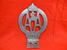 VINTAGE Royal Automobile Association of South Australia BRASS CAR BADGE c1929-50