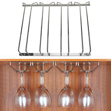 4 Row Wine Champagne Glass Storage Kitchen Bar Rack Holder Chrome Plated Hanger