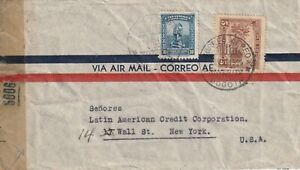 1944 Colombia censored cover sent to Wall Street New York USA