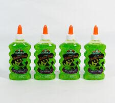 4 Elmer's Classic Glitter Glue Washable Green Color 6 oz DIY Slime Making Craft