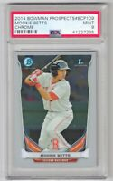 2014 Bowman Chrome Prospects Mookie Betts ROOKIE RC #BCP109 PSA 9 MINT RED SOX📈