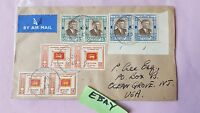 15 C Stamped Envelope Ceylon Colombo Independence 1948 By Air Mail