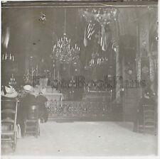 Paray le Monial La Chapelle de Visitation Plaque de verre stereo Positif Vintage