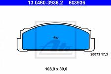 Bremsbelagsatz, Scheibenbremse für Bremsanlage Vorderachse ATE 13.0460-3936.2