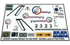 Lego® Custom Pre-Cut Transparant Sticker for Town set 6339 - Shuttle Launch Pad