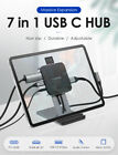 LENTION 7-in-1 USB-C HUB to USB 3.0 HDMI Aux Adapter for iPad Pro Tablet Stand