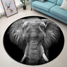 Indoor Area Rug African Elephant Carpet Living Room Nonslip Floor Mat Home Decor