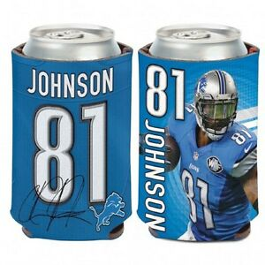 Detroit Lions Calvin Johnson Can Cooler (NEW) Coozie Koozie Holder Drink