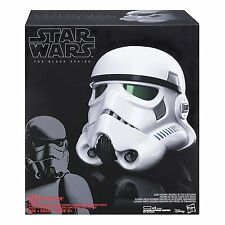Casco stormtrooper black series star wars con modificador de voz