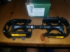 """Bicycle Pedals for Road BMX Mountain Bicycles 9/16"""" Wellgo 972 Resin Black"""