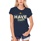 ULTRABASIC Women's Organic T-Shirt Time to Have Faith - Bible Religious Shirt