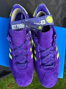 Adidas Trimm Star Size 12 Purple/Slime DeadStock