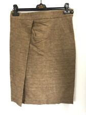 Vivienne Westwood Anglomania NEW Tan Brown Linen Blend Justice Skirt IT46/UK14