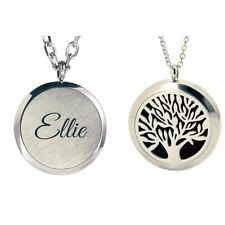 Personalised Tree Of Life Aromatherapy Essential Oil Diffuser Necklace