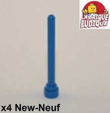 Lego - 4x Antenne bout rond Antenna round top 1x4 bleu/blue 3957 NEUF