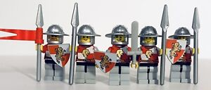 LEGO Castle Kingdoms Red Lion Knights Lot Of 5x Army Builder Solider #2