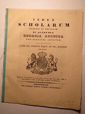 Universität Göttingen - SS 1853 - Index Scholarum - Conrad Heinrich Fuchs