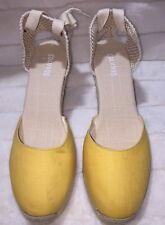 Soludos Women's Yellow Lace-up Tall Wedge Size 10