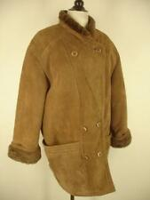 Womens XL 1X 14 Hide Society Canada Genuine Sheepskin Shearling Fur Coat Jacket