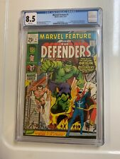 MARVEL FEATURE 1 CGC 8.5 VF+ WHITE PAGES 1971 IST DEFENDERS & ORIGIN