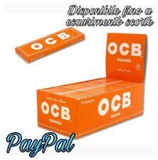 🔥 CARTINE OCB ORANGE CORTE Tipo A ARANCIONI 60x 25-50 PACCHETTI BOX