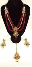 choker necklace traditional indian bridal jewellery set kundan & pearl