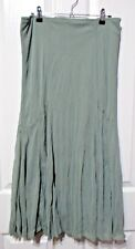 Ladies Mixit Brand Light Green Long Flared Skirt size 10