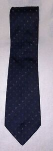 Brioni Men's Blue Dash Graphic 57 Inches Length Silk Tie Made in Italy MSRP $135