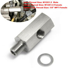 "1/8"" NPT Stainless Steel Sensor M12x1.5 Adapter Fitting For Oil Pressure Gauge"