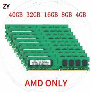 40GB 32GB 16GB 8GB 4GB DDR2 PC2-6400U 800MHz 2Rx4 AMD DIMM Desktop Memory Lot UK