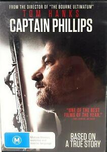 CAPTAIN PHILLIPS. Tom Hanks. Based on True Story. R4 DVD