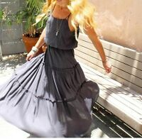 Free People  Valerie Maxi Dress XS Solid Gray