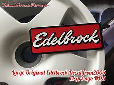 LARGE EDELBROCK DECAL STICKER FORD MUSTANG SHELBY CHEVY VETTE DODGE RT
