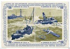 Chile 1975 #865-68 Centenario Cuerpo Voluntarios Botes Salvavidas Valparaiso MNH