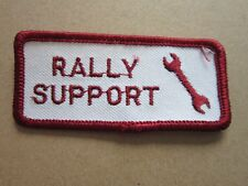 Rally Support Cars Motors Automobilia Motorsport Cloth Patch Badge (L3K)