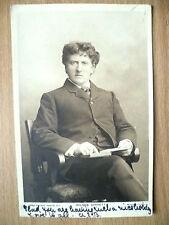 1904 Used Postcard- Actors WILSON BARRETT, No. 104B + Stamp