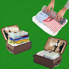 4x 50x70cm Roll Up Space Saving Travel Vacuum Seal Bags Zip Lock Holiday Luggage