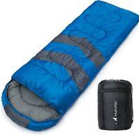Saco de dormir para acampar, viajar y al aire libre. Ligero, resistente al agua.