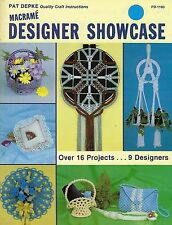 Twin Double Plant Hanger Pattern Macrame Designer Showcase Craft Book PD1180