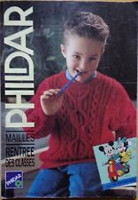 § catalogue ancien laine tricot PHILDAR n° 205 enfants 1991 Mickey Minnie