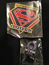 DC Legion Supergirl Patch and Atom Pin May 2016 DC TV