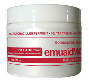 Emuaid Max Homeopathic Ointment Natural Remedy for Over 120 Skin Disorders 2oz.