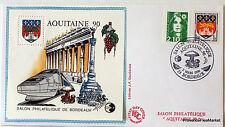 Francia Aquitaine Bordeaux Blocco Foglio CNEP su Lettera N° 12 FDC