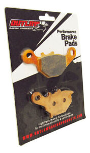 Outlaw Racing OR401 Rear Sintered Brake Pads Fits SUZUKI RM85 & RM85L 2005-