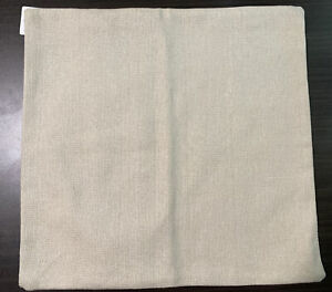 POTTERY BARN Lennox natural 18x18 pillow cover cotton linen look NWT Farmhouse