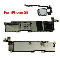 For iPhone SE Main Board Motherboard w/ White Touch ID 16GB 32GB Unlocked Parts
